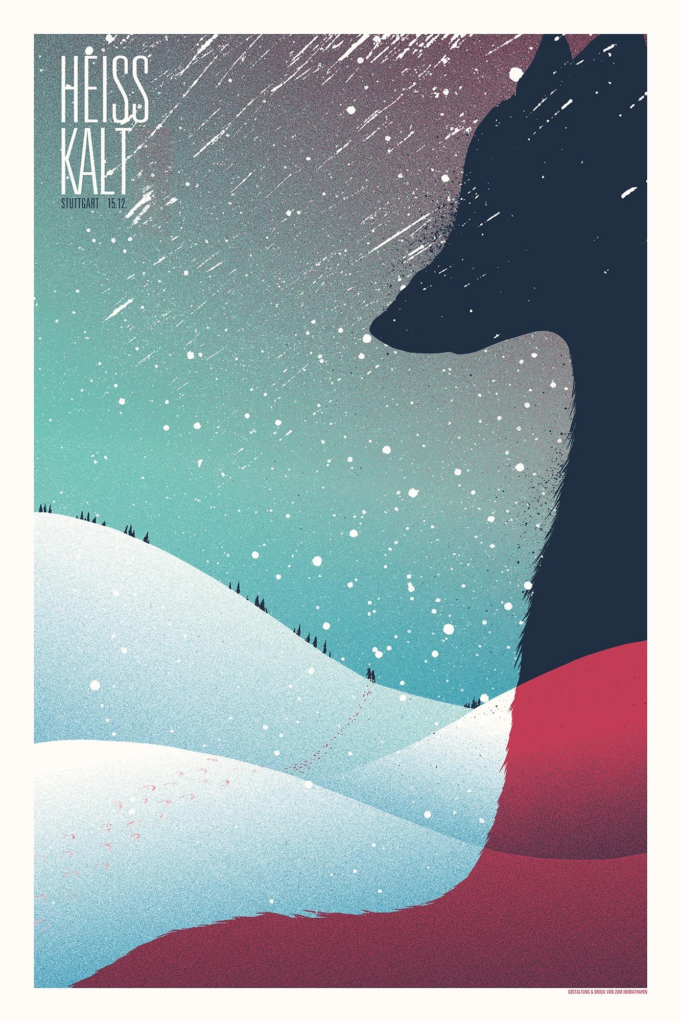 Siebdruckposter - Jahresabschluss 2017 (Secret Gig)