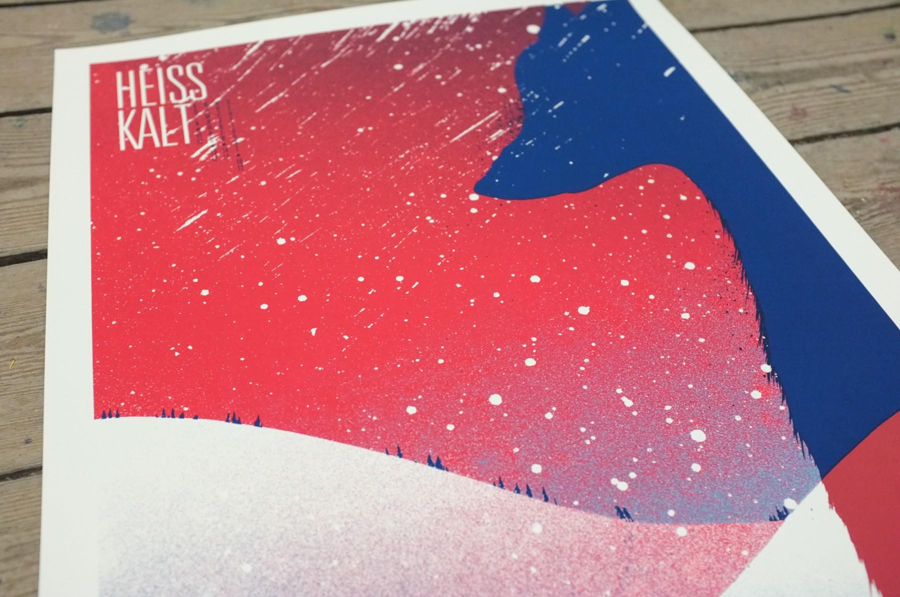 Siebdruckposter - Jahresabschluss 2017